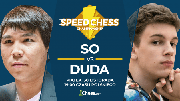 Jan-Krzysztof Duda zagra z Wesleyem So w półfinale Speed Chess Championship