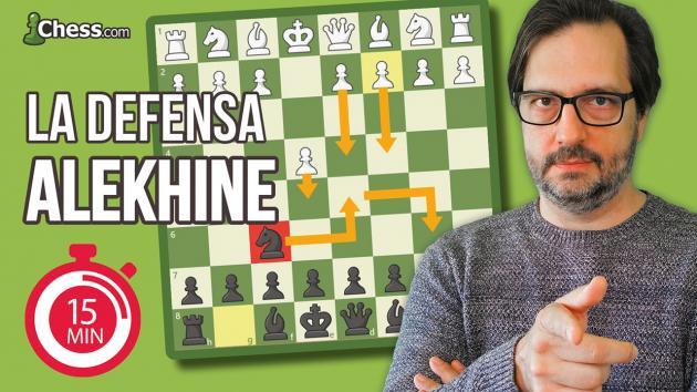 La Defensa Alekhine | Aperturas de ajedrez en 15 min