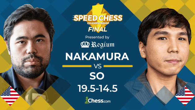 Nakamura Defeats So To Repeat As Speed Chess Champion
