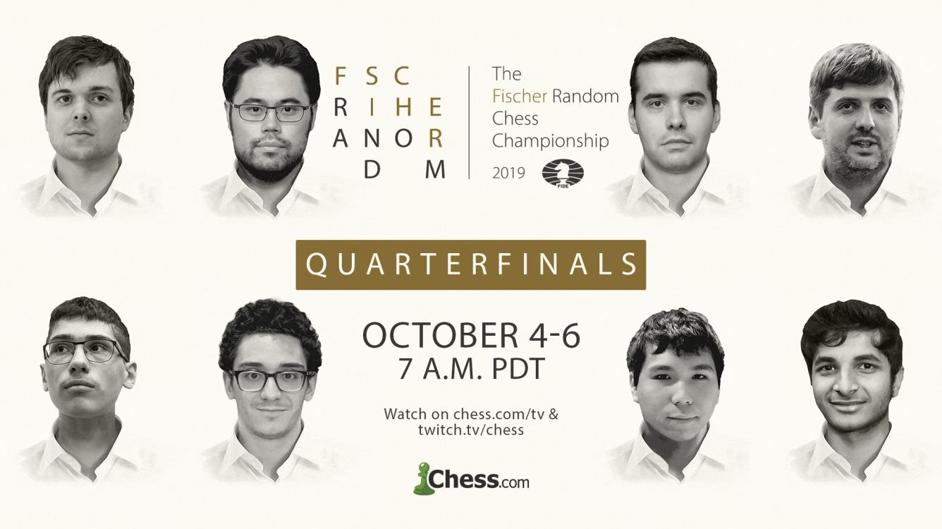 Today: FIDE World Fischer Random Chess Championship Quarterfinals