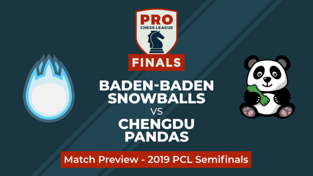 PRO Chess League Halbfinale: Baden-Baden Snowballs gegen Chengdu Pandas