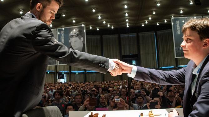 Magnus Carlsen gegen das Wunderkind