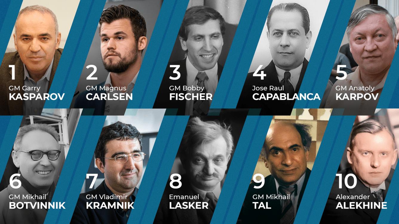 Los 10 mejores jugadores de ajedrez de la historia