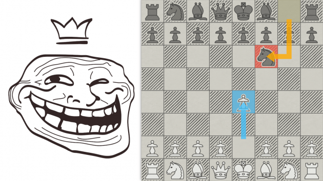 Дебют шахматных троллей