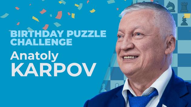 Solve Anatoly Karpov's 70th Birthday Puzzle Challenge