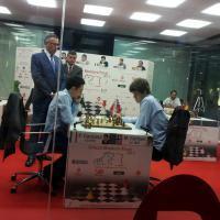 Carlsen defeats Caruana Bilbao chess masters 2012