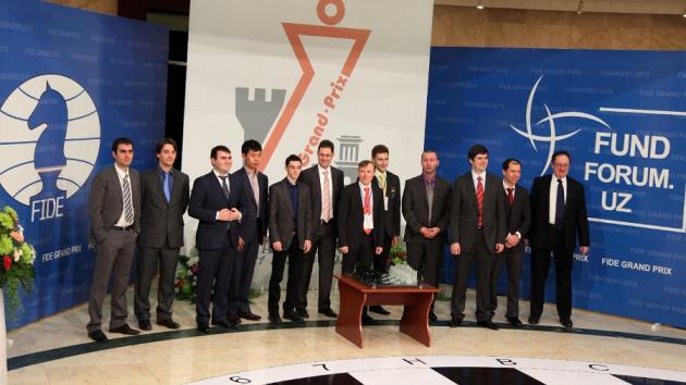 FIDE Grand Prix Tashkent 2012, partidas en directo