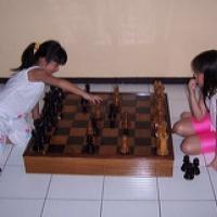 für Schachspielers und Schachspielerin Übungsbeispiel