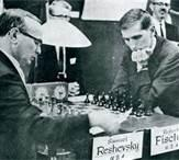 R. Fischer  VS  S. Reshevsky 16 Game Match 1961 (Round 9)
