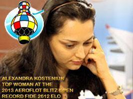 Kosteniuk top woman at the 2013 Aeroflot Mega Blitz Tournament