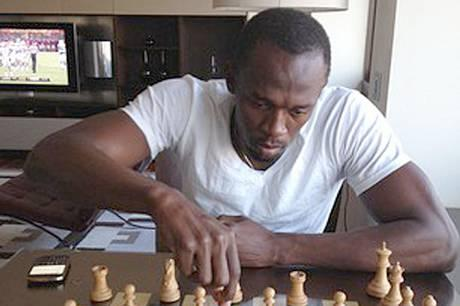 Does he play blitz or slow chess? USAIN BOLT