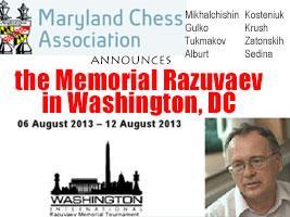 Memorial Razuvaev in Washington, DC with Gulko, Alburt, Kosteniuk and more