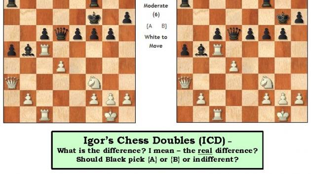 (ICD) #2 - Igor's Chess Doubles - Prize to best response!