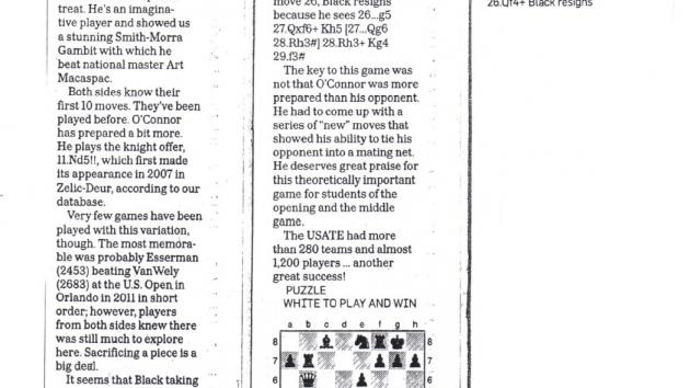 This is a game of mine that was in The Sunday Star Ledger!!