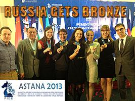 Astana World Team: 1. Ukraine 2. China 3. Russia