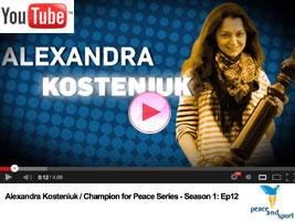 Chess Queen Kosteniuk Peace Message: Play Chess, No Wars!