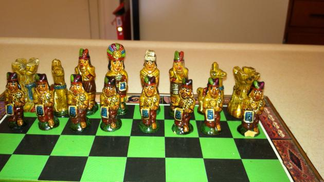 One of a Kind Chess Set - Must SEE!