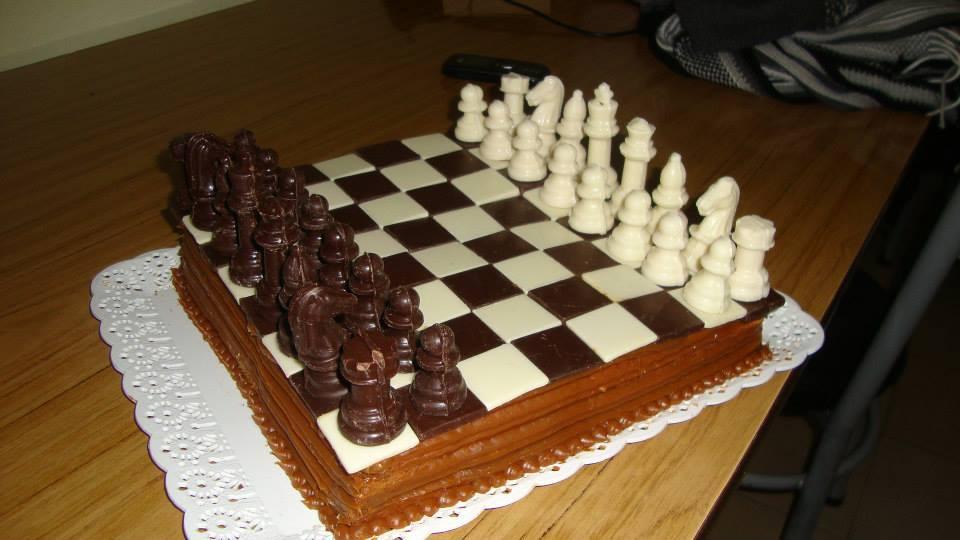 Chocolate chess cake for my birthday