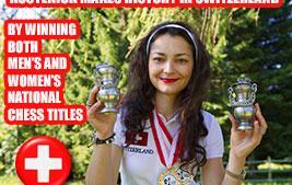 Kosteniuk writes Chess History in Switzerland