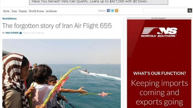 The forgotten story of Iran Air Flight 655)