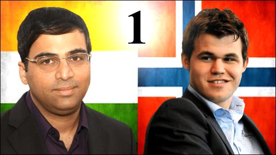 Game 1 - 2013 World Chess Championship - Carlsen vs Anand
