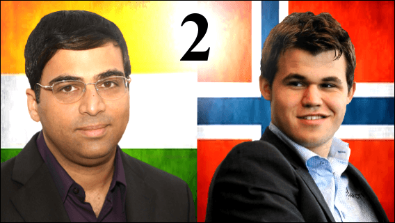 Game 2 - 2013 World Chess Championship - Anand vs Carlsen