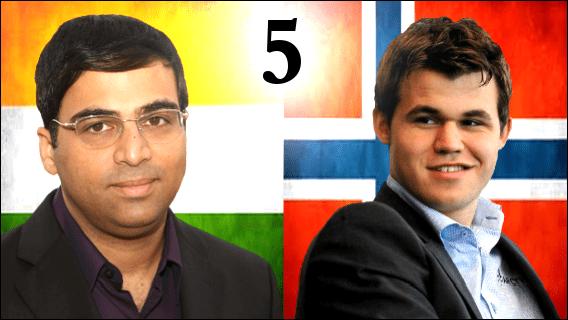 Game 5 - 2013 World Chess Championship - Carlsen vs Anand