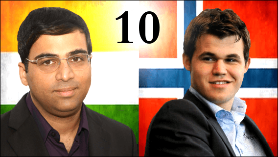 Game 10 - 2013 World Chess Championship - Magnus Carlsen vs Vishy Anand
