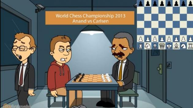Funny Animation - Anand vs Carlsen Game 9