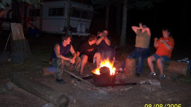 My Siblings Around the Campfire