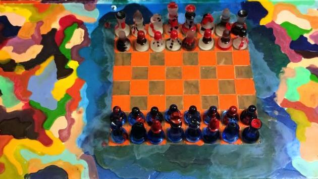 Encaustic Chess Boards by Michael Pyrek
