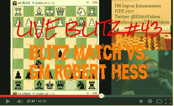 Blitz match vs GM RLH2