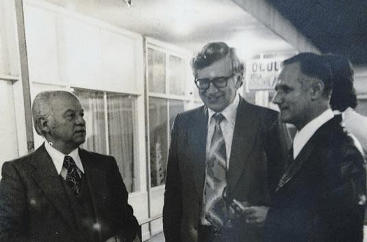 GM Vasily Smyslov in São Paulo with Fritz Leopert