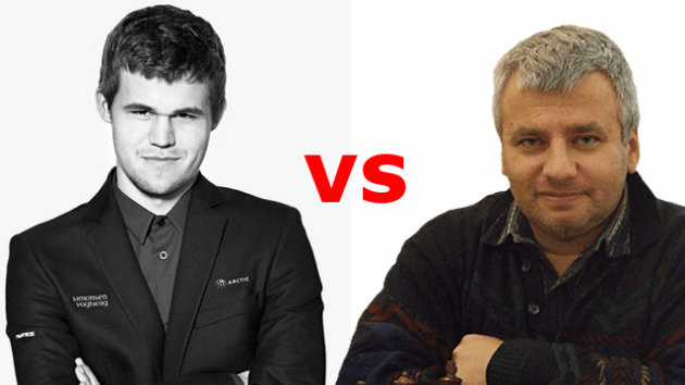 Round 1 - Carlsen vs Georgiev - 2014 FIDE World Rapid Chess Championship