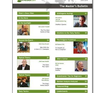 The June Master's Bulletin is there