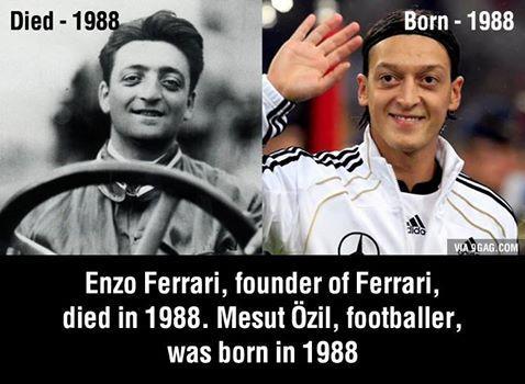Mesut Özil and Enzo Ferrari !