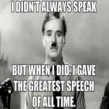 The Greatest Speech Ever Made