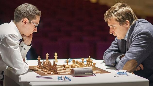 Young GMs fighting: Karjakin-Caruana