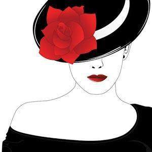دختری با یک گل سرخ