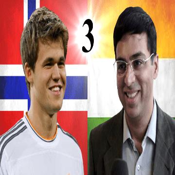 Game 3 - 2014 World Chess Championship - Viswanathan Anand vs Magnus Carlsen