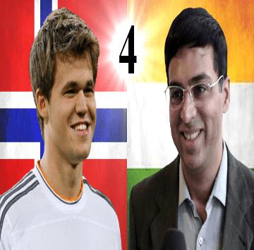 Game 4 - 2014 World Chess Championship - Magnus Carlsen vs Viswanathan Anand
