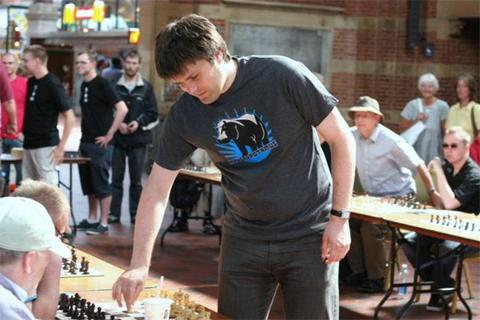 My simul game against GM Peter Heine Nielsen