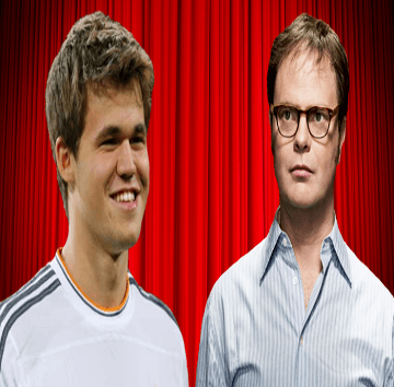 Magnus Carlsen vs Rainn Wilson chess game