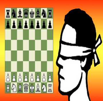 Blindfold chess game with commentary