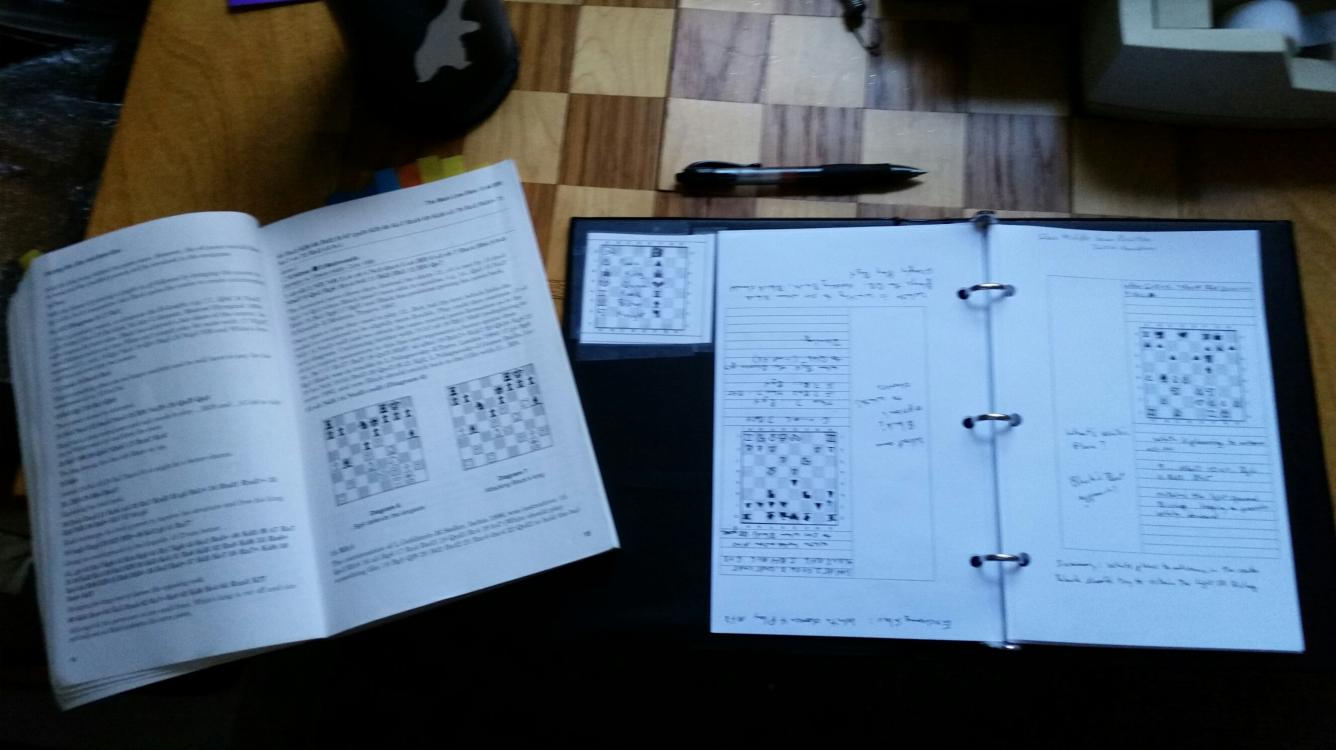 How I take  chess notes  using a modified Cornell Notes method