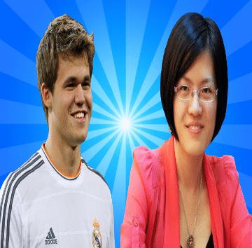 Magnus Carlsen vs Hou Yifan - World Chess Champion vs Women's World Chess Champion