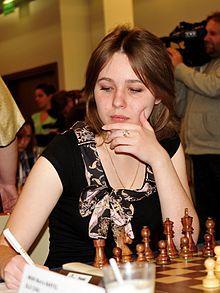 Mariya Muzychuk vs. Humpy Koneru, WWCC 2015, 1-0