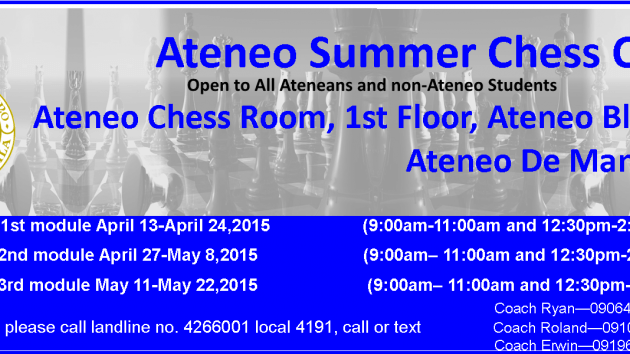 Ateneo Summer Chess Clinic 2015