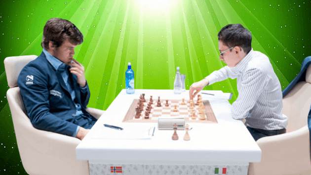Fabiano Caruana vs Magnus Carlsen - 2015 Gashimov Memorial Chess Tournament