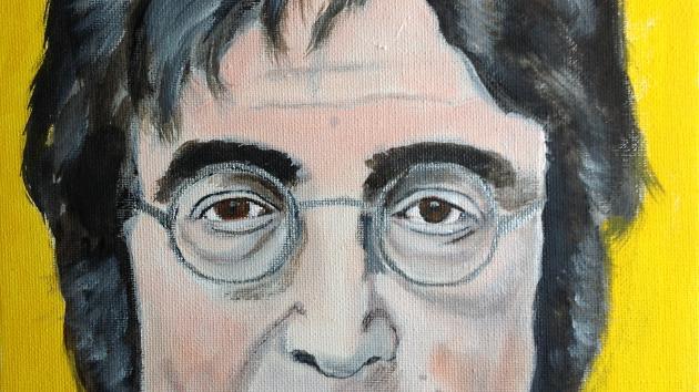 A portrait of John Lennon....